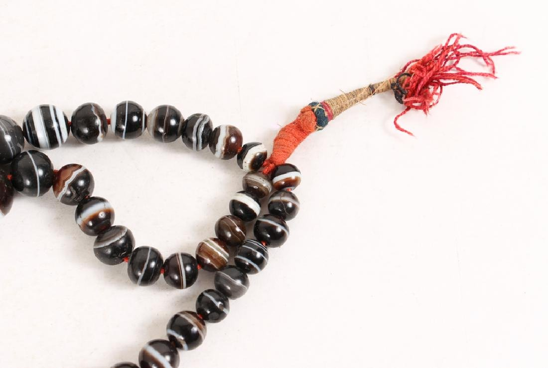 Large Group Striped Agate Beads - 5