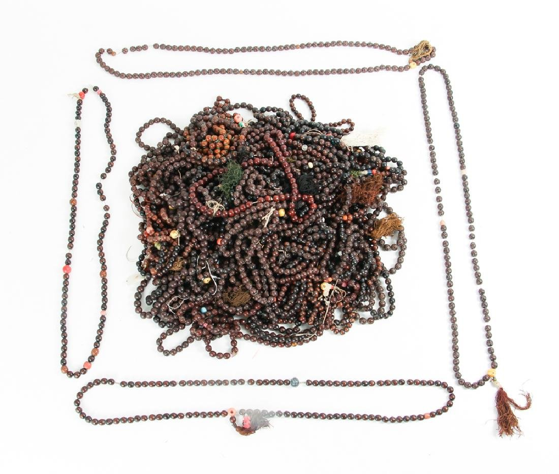 Large Group of  Wooden Prayer Beads
