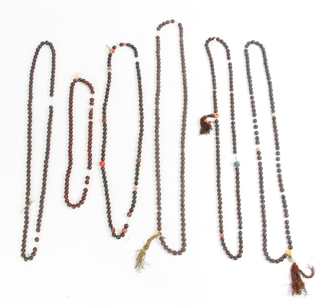 Large Group of  Wooden Prayer Beads - 2