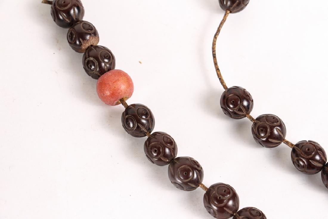 Large Group of  Wood and Plastic Prayer Beads - 3