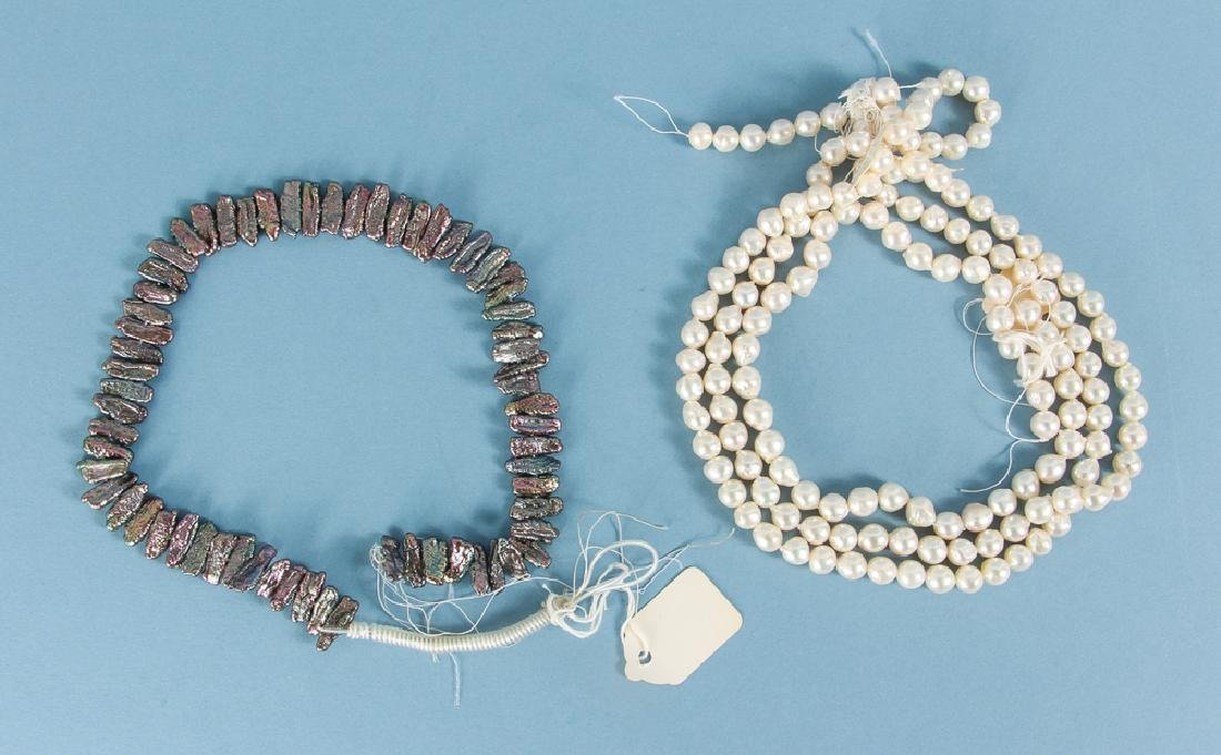 Large Group of Pearl Jewelry Supplies - 2
