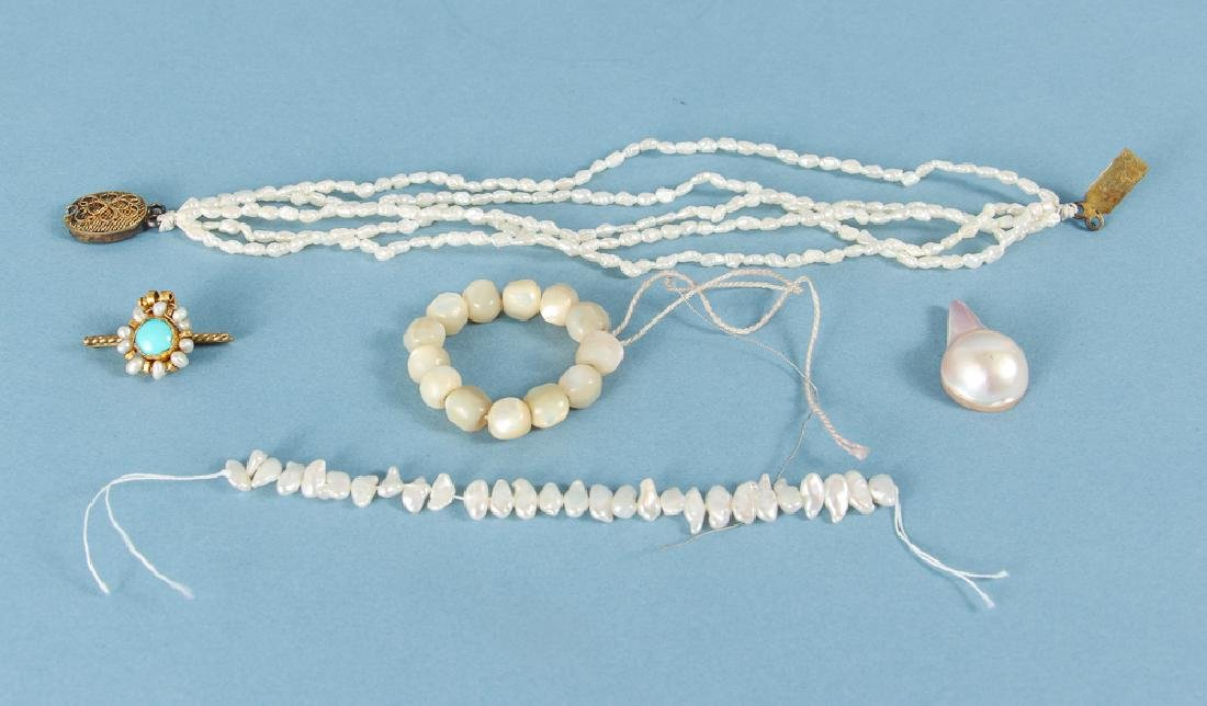 Large Group of Pearl Jewelry Supplies - 4