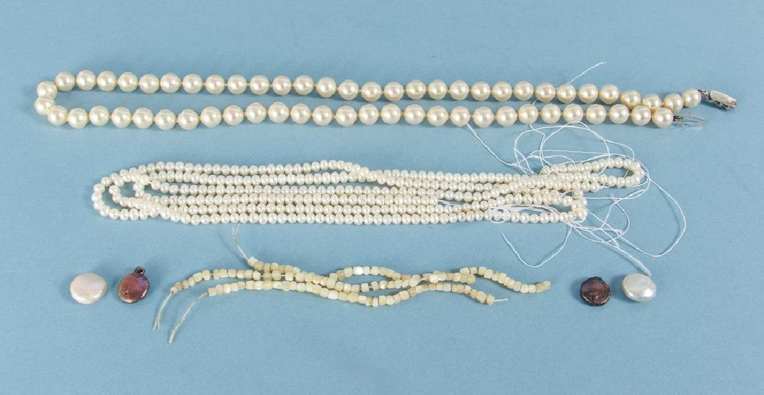 Large Group of Pearl Jewelry Supplies - 5
