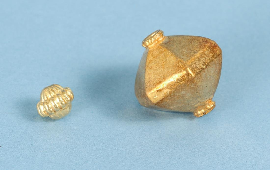 Large Group of Gold Washed Beads and Fittings - 2