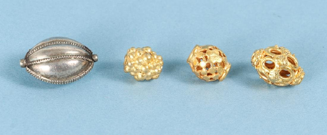 Large Group of Gold Washed Beads and Fittings - 3