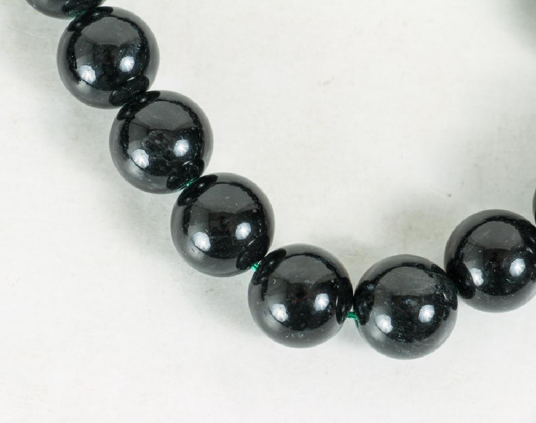 Seven Strands Black Jade Beads - 3