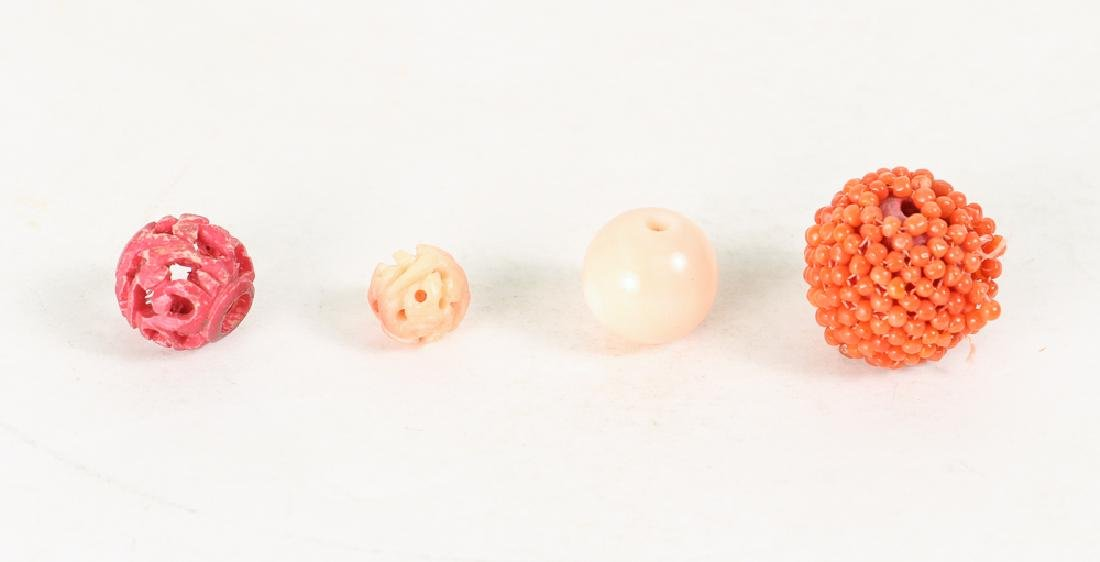 Large Group of Coral Beads - 4