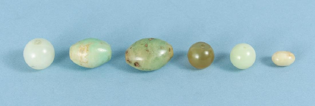 Group of Jade and Nephrite Beads - 2