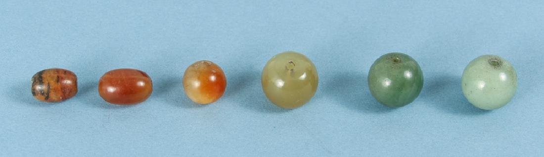 Group of Jade and Nephrite Beads - 3