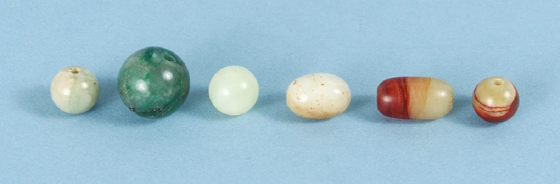 Group of Jade and Nephrite Beads - 6