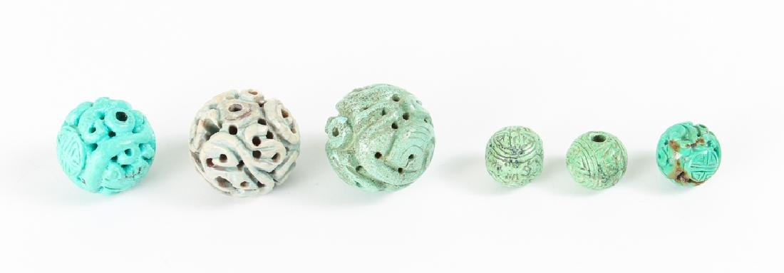 Group of Turquoise Beads - 7