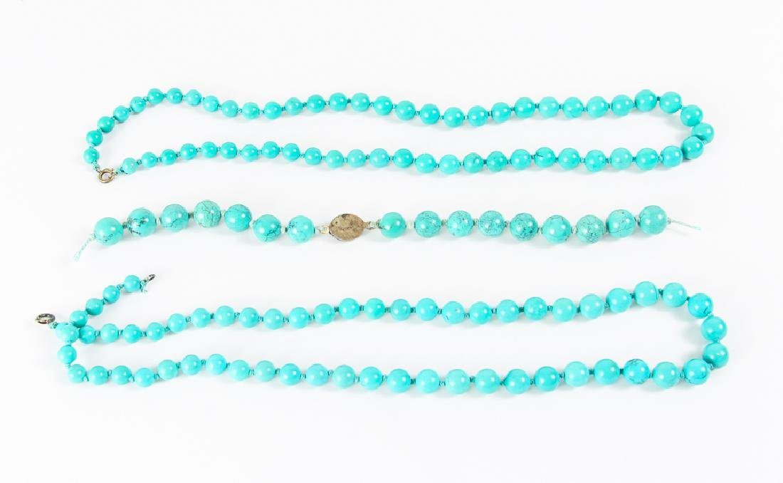 Group of Turquoise Beads - 9
