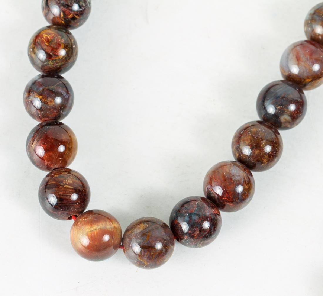 Large Group of Brown Agate Beads - 3