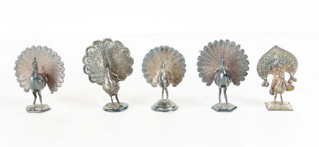 Large Group of Silvered Metal Animals - 2