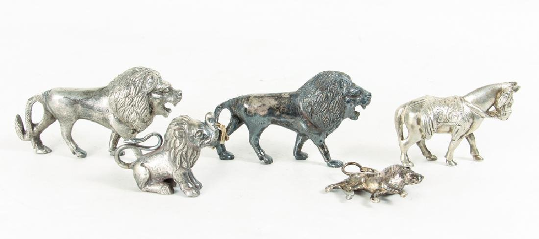 Large Group of Silvered Metal Animals - 4