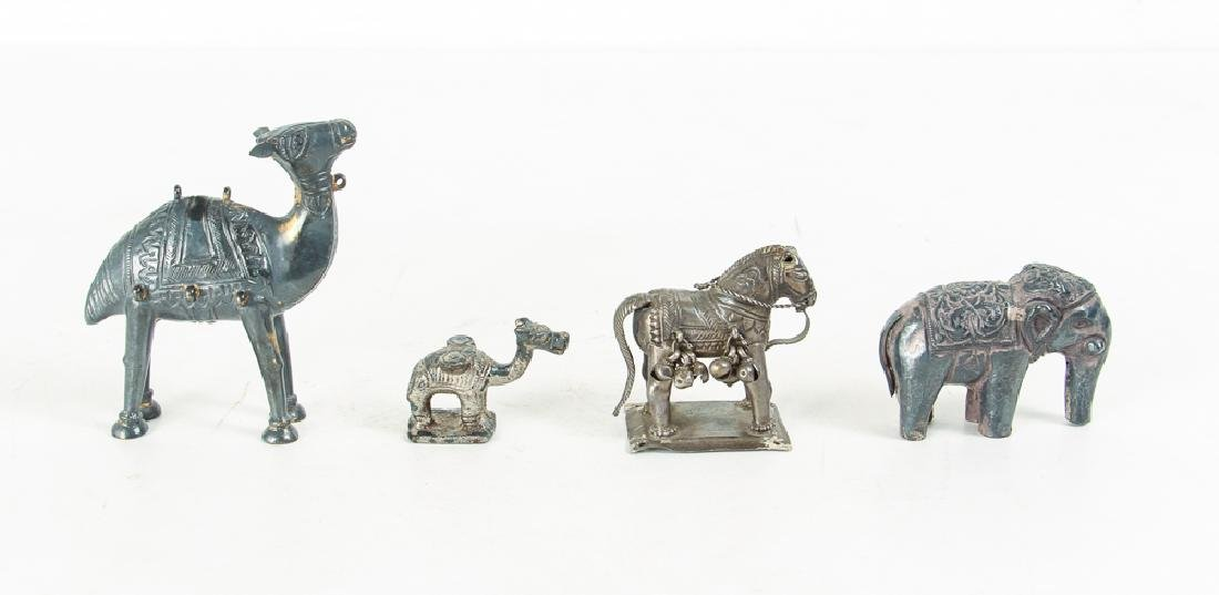 Large Group of Silvered Metal Animals - 5
