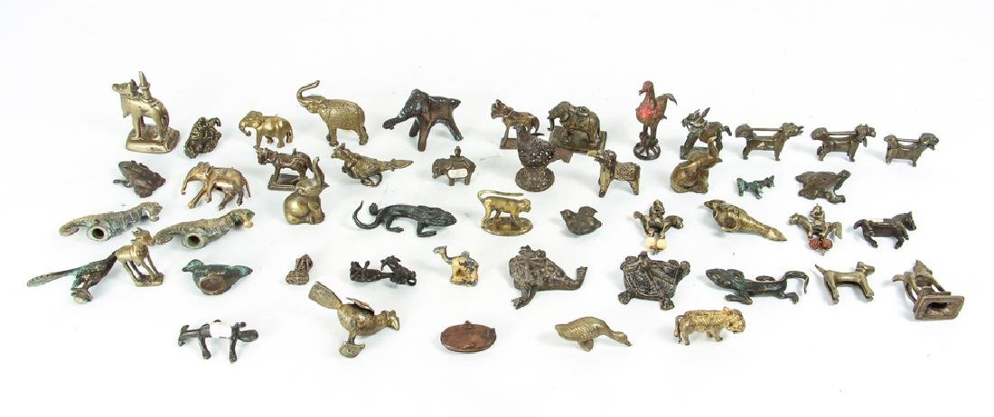 Large Group of Brass Animals