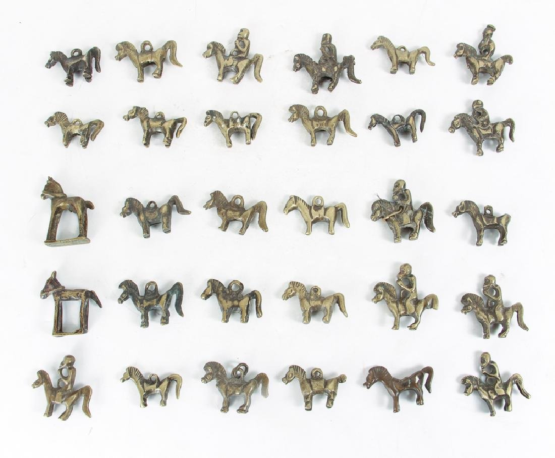 Large Group of Brass Horse and Riders