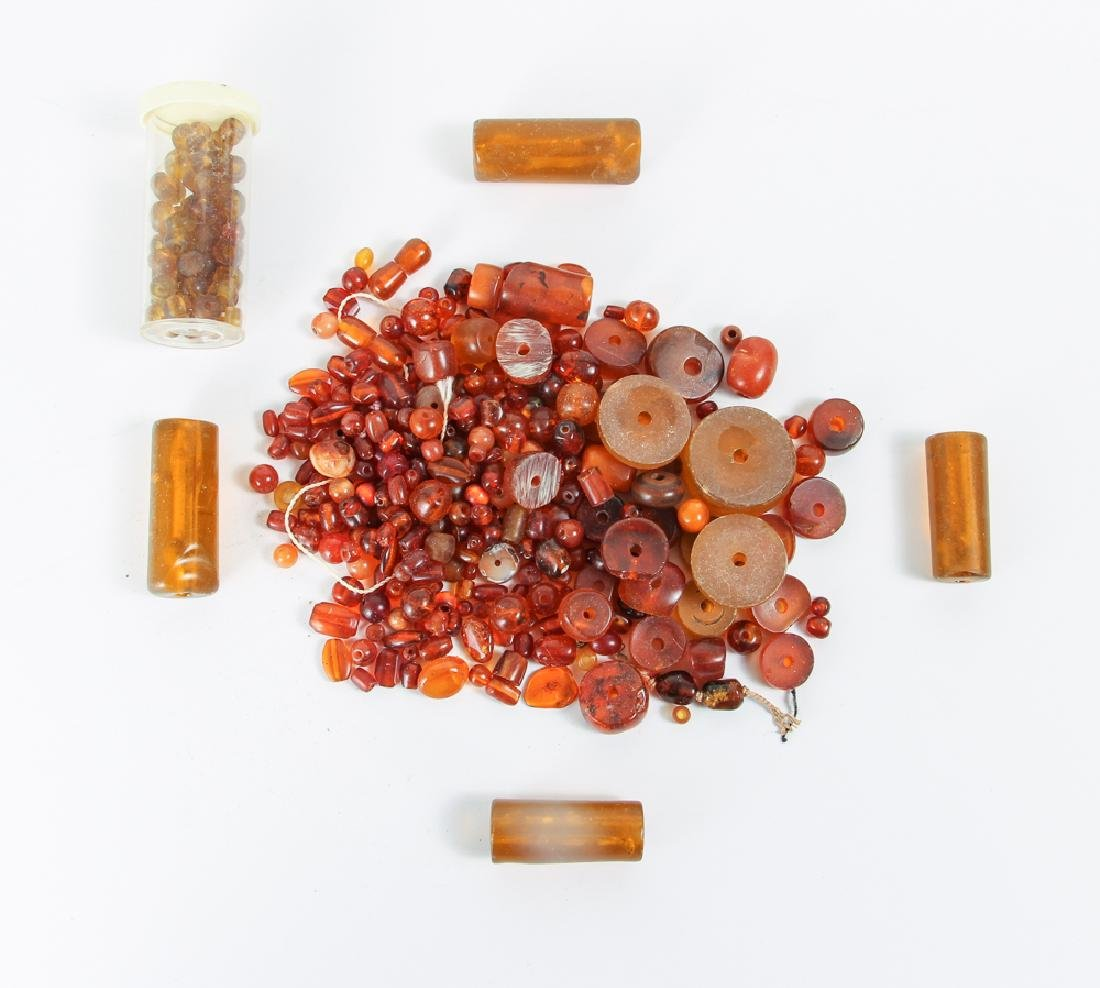 Large Group of Amber Beads