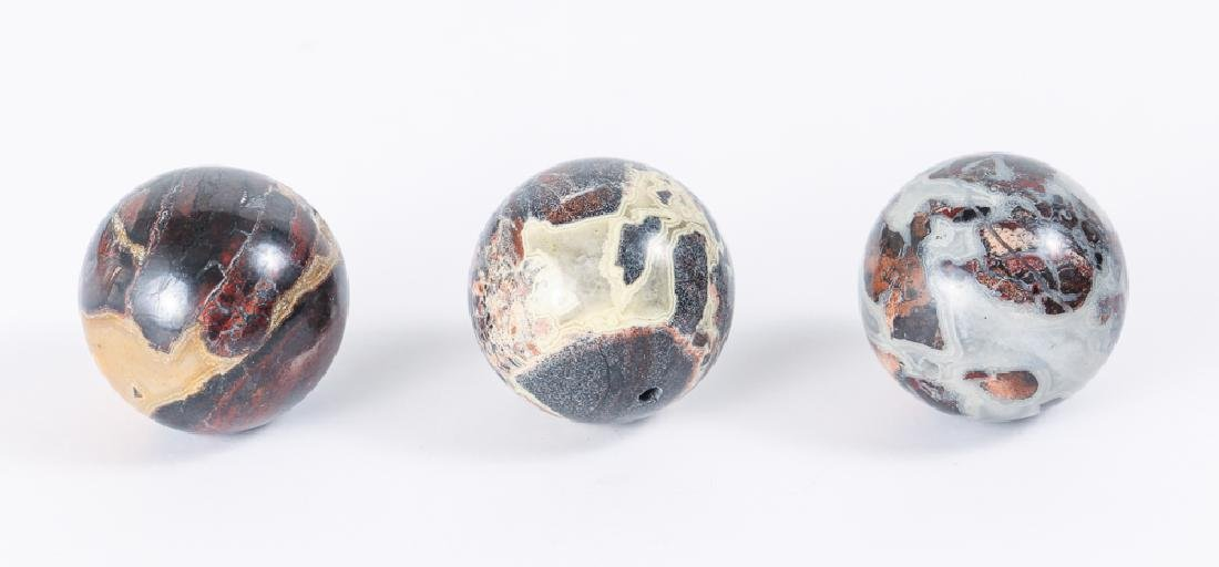 Large Group Variegated Agate Beads - 4