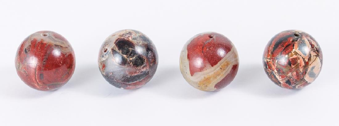 Large Group Variegated Agate Beads - 5