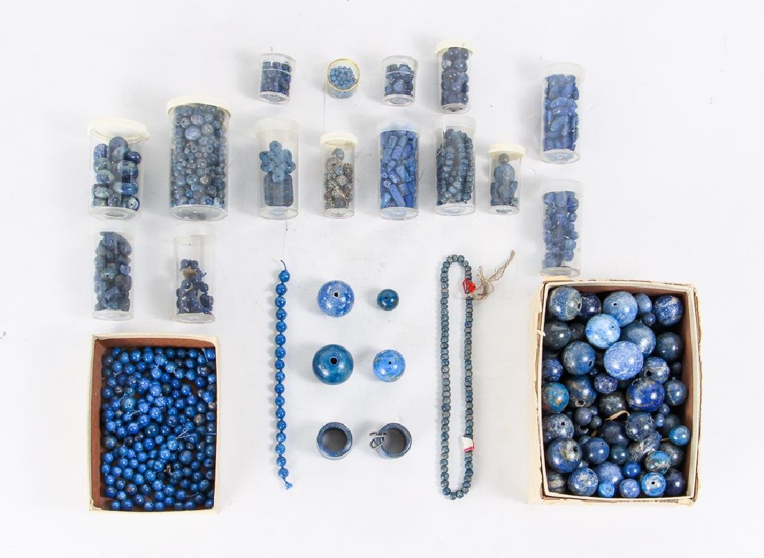 Large Group of Lapis Beads