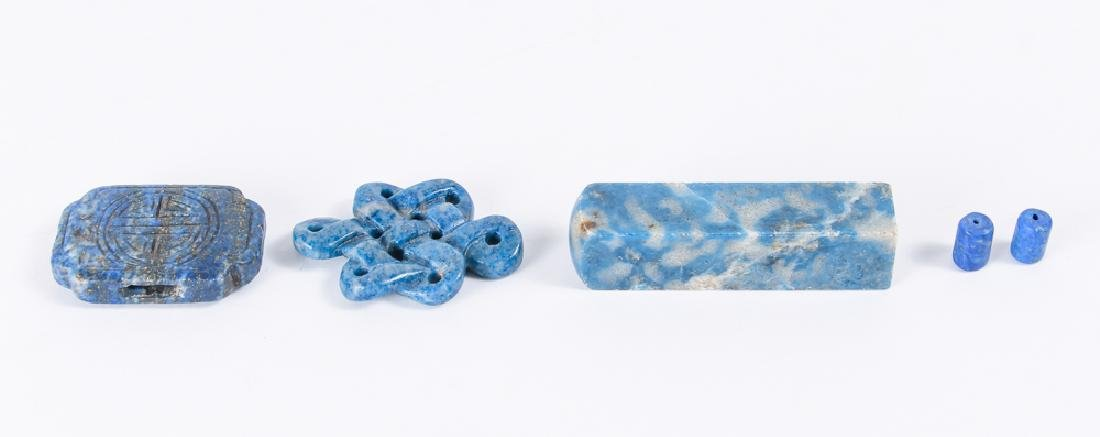 Large Group of Lapis Beads - 5
