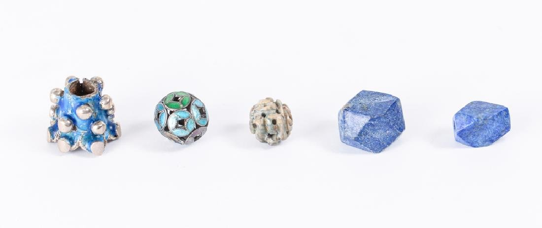 Large Group of Lapis Beads - 6