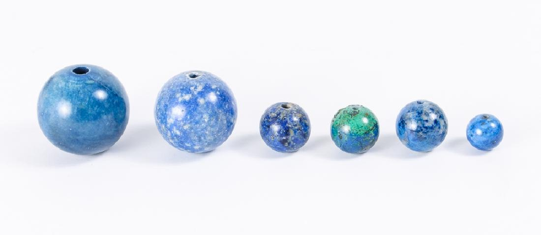 Large Group of Lapis Beads - 8