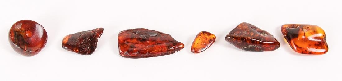 Large Group of Amber and Other Beads - 2