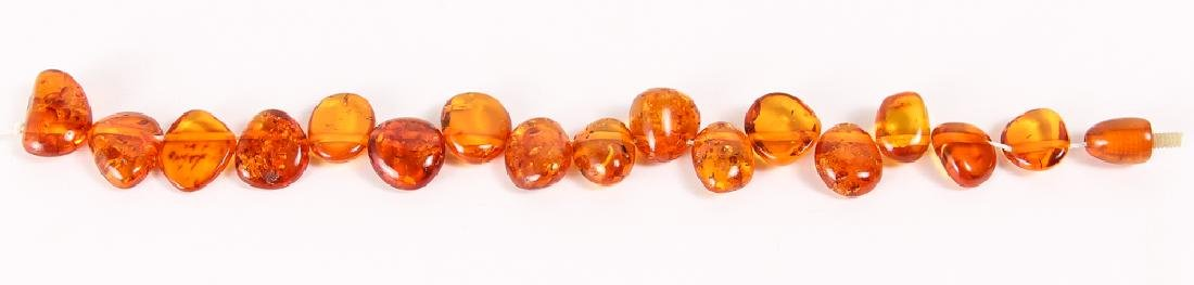Large Group of Amber and Other Beads - 3