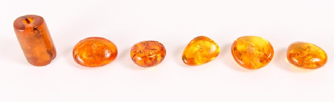 Large Group of Amber and Other Beads - 4
