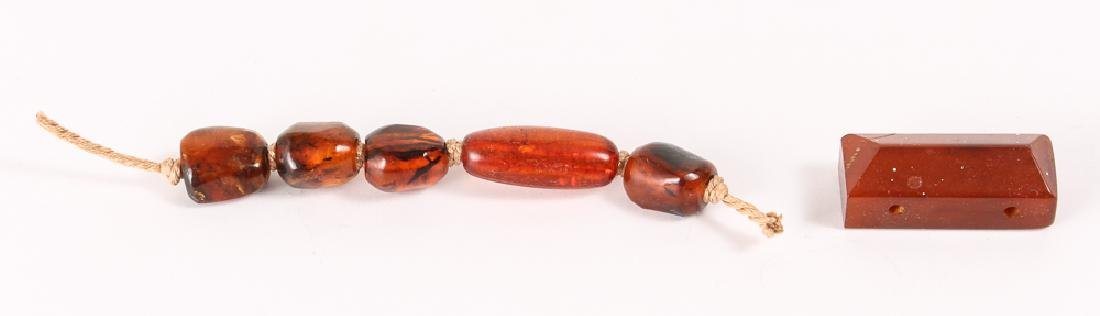 Large Group of Amber and Other Beads - 7