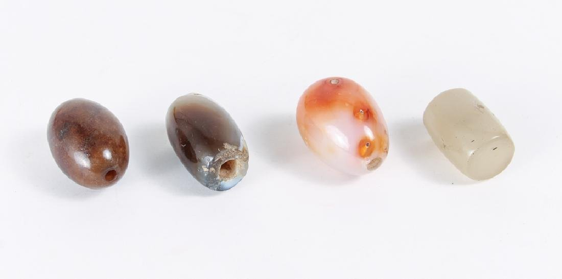 Large Group of Agate and Related Beads - 2