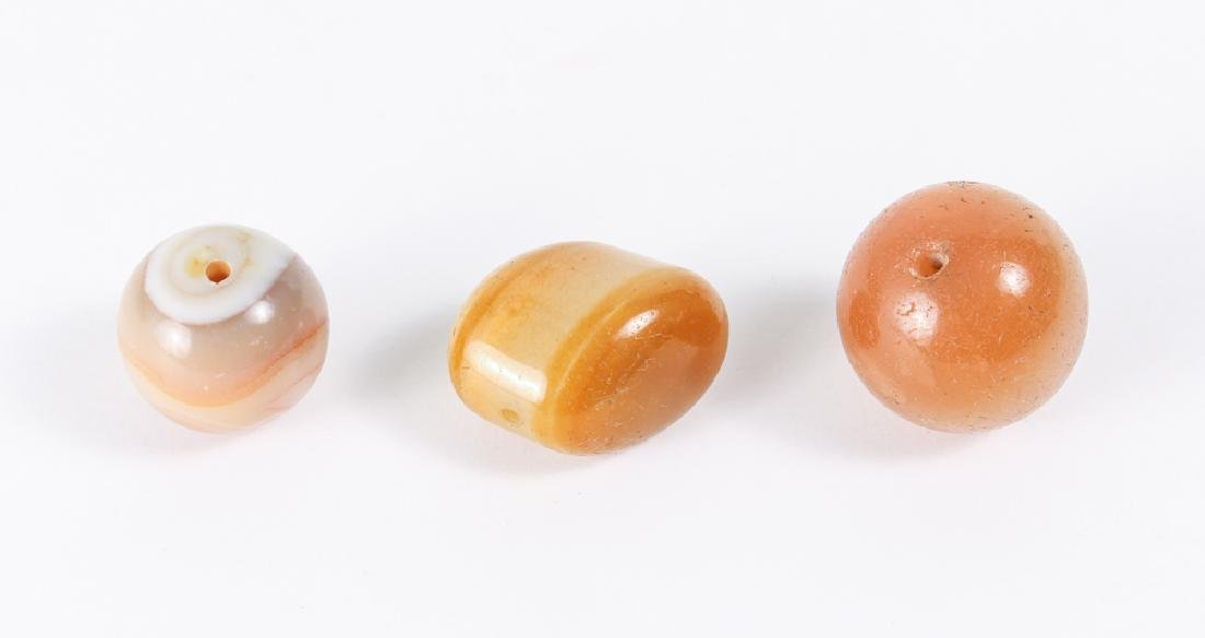 Large Group of Agate and Related Beads - 9
