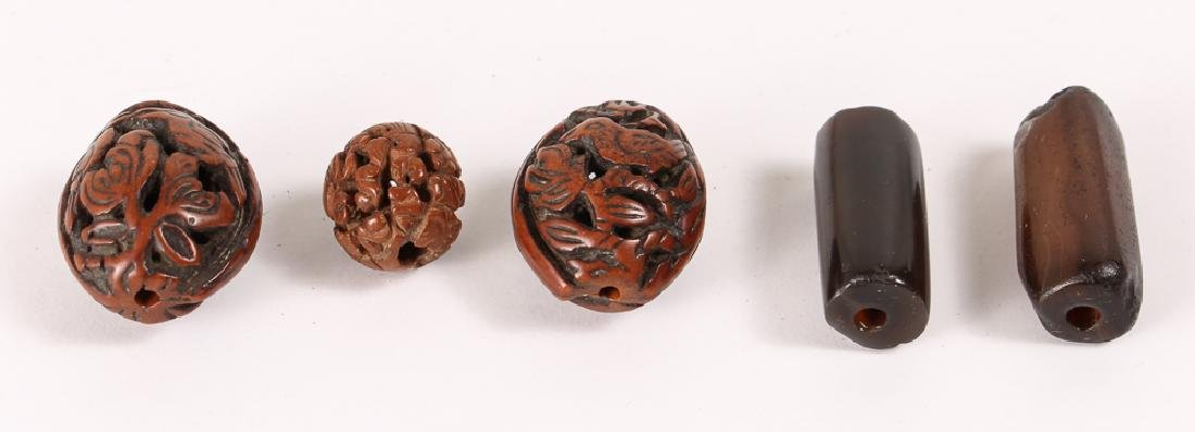 Large Group of Carved Prayer and Related Beads - 6