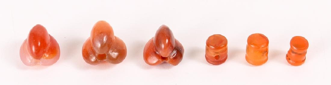 Large Group of Orange Agate Mineral Beads - 3