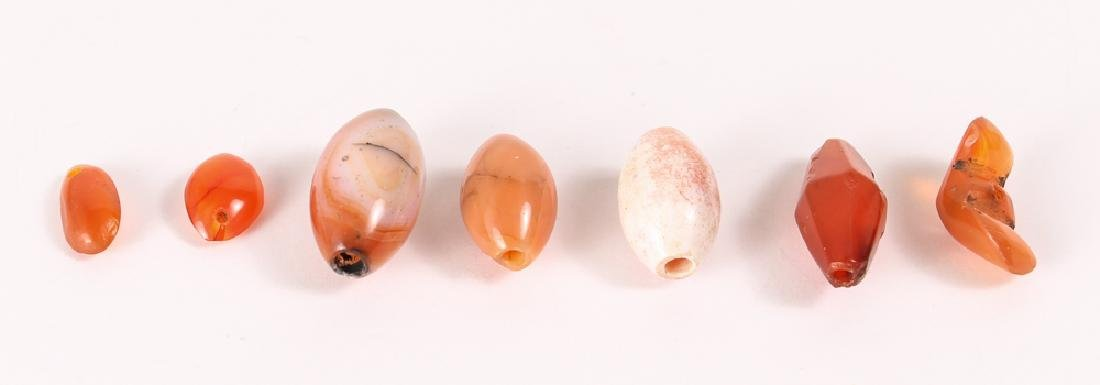 Large Group of Orange Agate Mineral Beads - 4