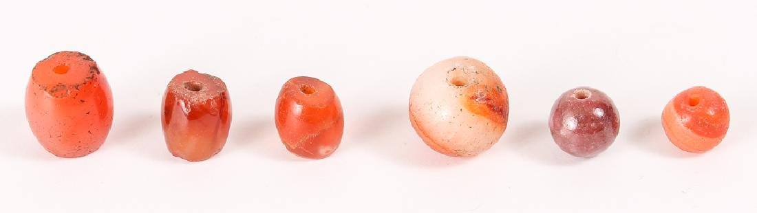 Large Group of Orange Agate Mineral Beads - 5