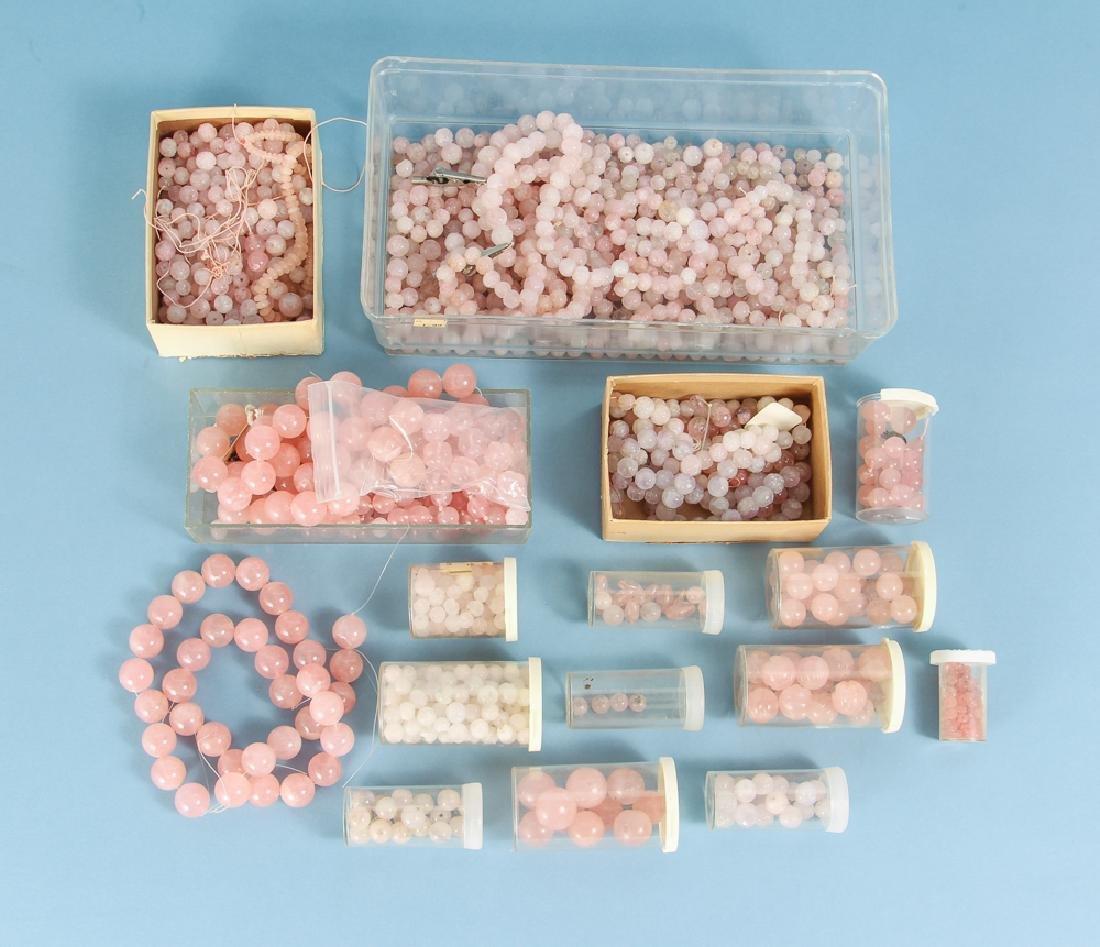 Large Group of Rose Quartz Beads