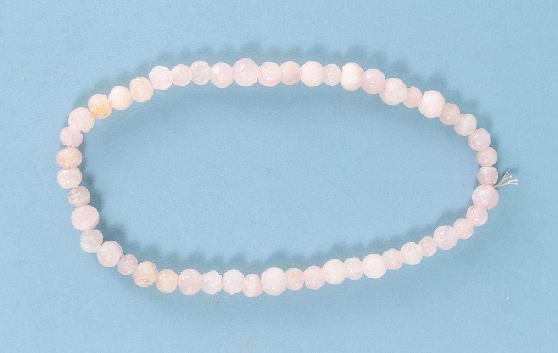 Large Group of Rose Quartz Beads - 3