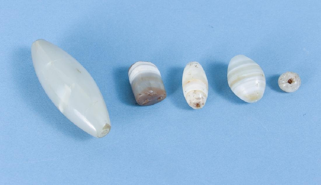 Large Group of Agate and Quartz Beads - 3