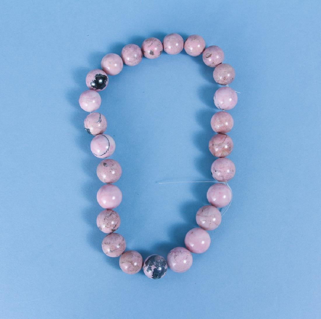 Large Group of Pink Jasper and other Mineral Beads - 2