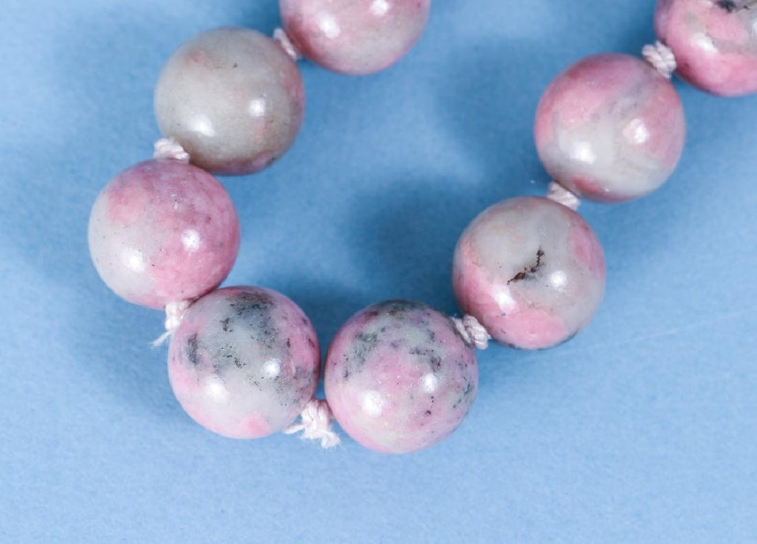 Large Group of Pink Jasper and other Mineral Beads - 7