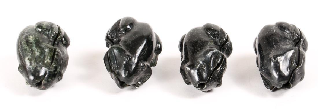 Large Group of Dark Green Jasper Mineral Beads - 2