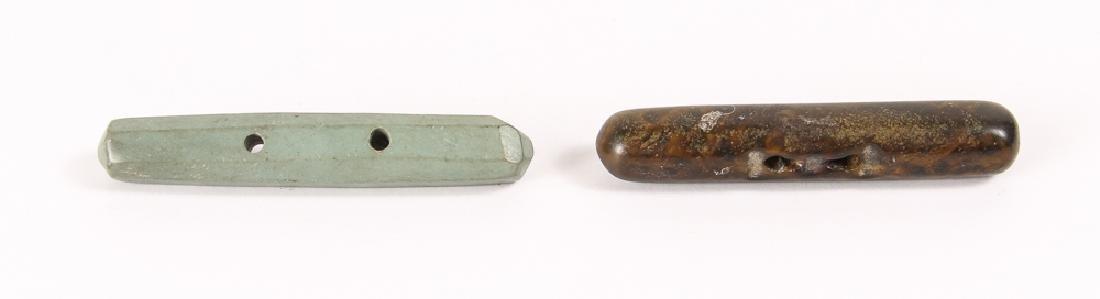 Large Group of Dark Green Jasper Mineral Beads - 5