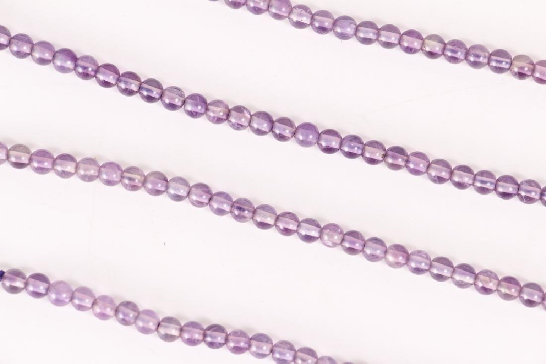 Large Group of Amethyst and Related Beads - 3