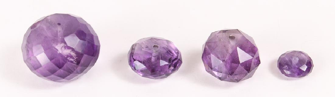 Large Group of Amethyst and Related Beads - 7
