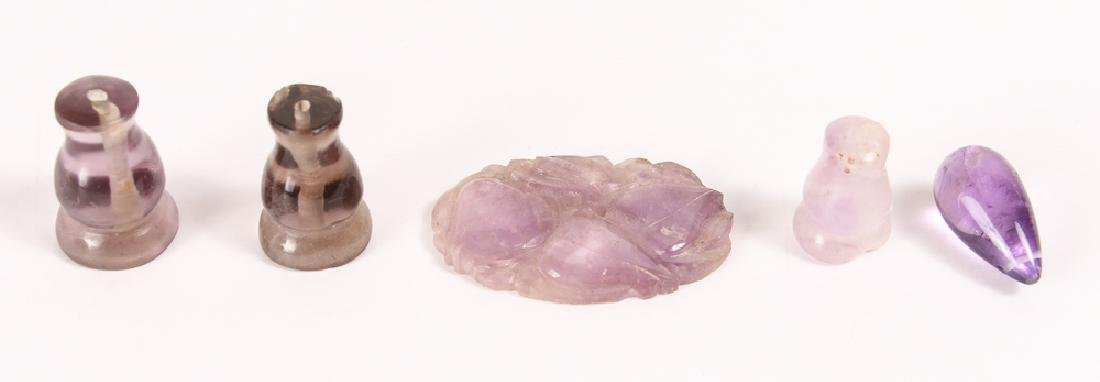 Large Group of Amethyst and Related Beads - 9