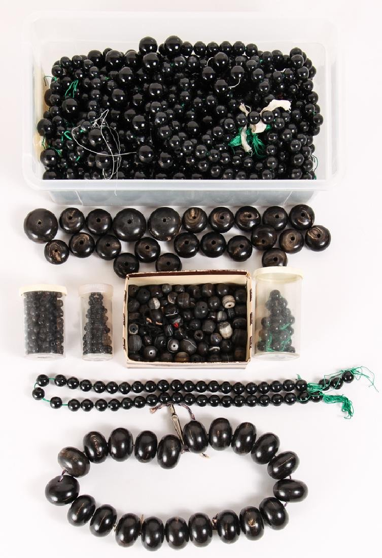 Large Group of Black Beads